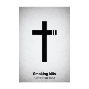 Plakát Smoking kills, 29,7x42 cm, limitovaná edice