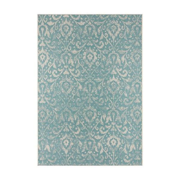 Tyrkysovo-béžový vonkajší koberec Bougari Hatta, 200 x 290 cm