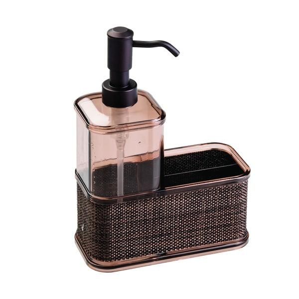 Dozownik do mydła w kolorze brązu iDesign Twillo, 532 ml