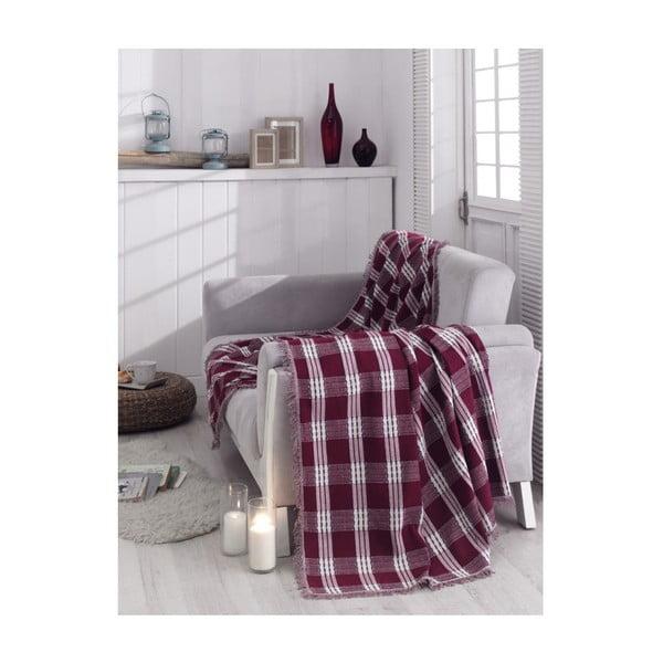 Pătură din bumbac Buyuk Claret Red, 180 x 230 cm