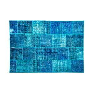 Vlněný koberec Allmode Dark Turkuaz, 150x80 cm