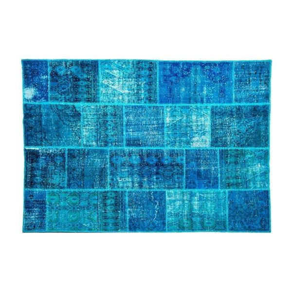Vlněný koberec Allmode Dark Turkuaz, 180x120 cm