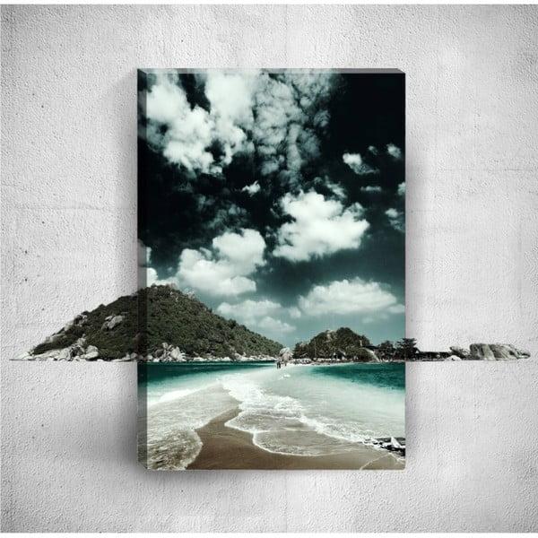 Nástěnný 3D obraz Mosticx Dark Shore, 40 x 60 cm
