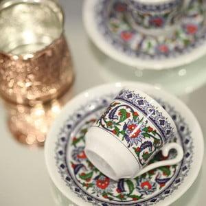 Sada 6 hrníčků na kávu Ornament, 50ml