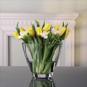 Váza z křišťálového skla Nachtmann Carré, výška 18,8 cm