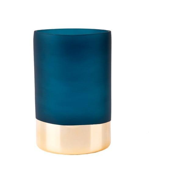 Modro-zlatá váza PT LIVING Glamour, výška 15 cm