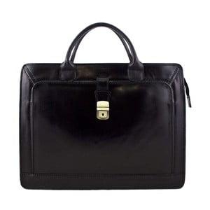 Černá pánská kožená taška Luciano Calboni Alberto