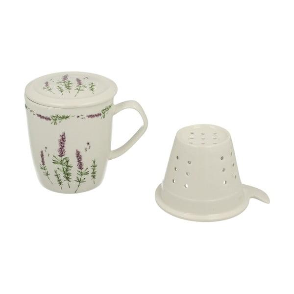 Porcelánový hrnek se sítkem a pokličkou Duo Gift Lavender, 400ml