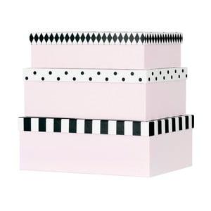 Set 3 cutii carton pentru depozitare Miss Étoile Open & Closed Eyes