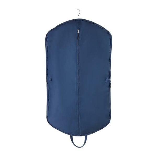 Niebieski pokrowiec na garnitur z torbą na buty Wenko Business