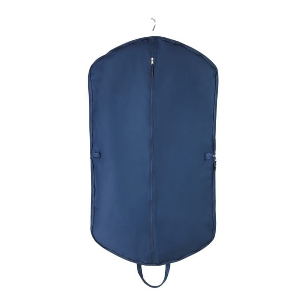 Modrý obal na oblek s taškou na topánky vreckami Wenko Business