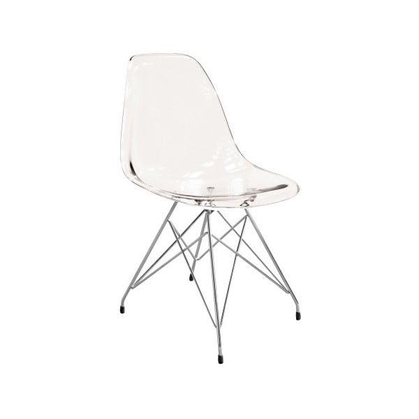 Transparentní jídelní židle Canett Crystal