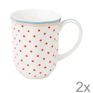 Porcelánový hrnek na kávu Happy Dot od Lisbeth Dahl, 2 ks