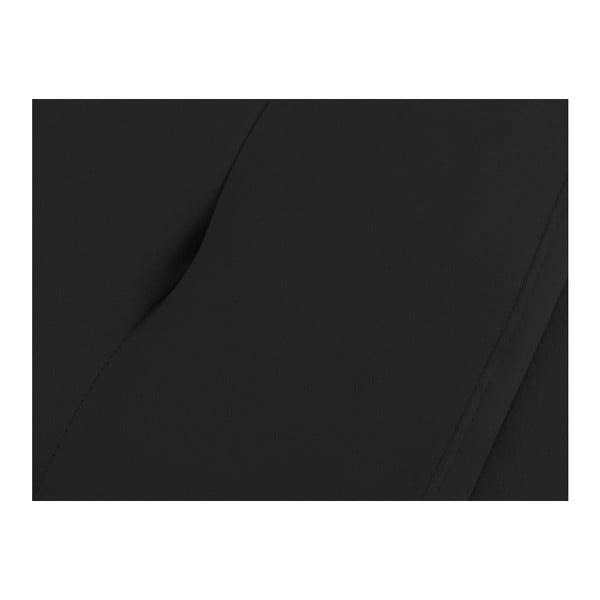 Černý otoman k posteli s úložným prostorem Kooko Home, 47 x 160 cm