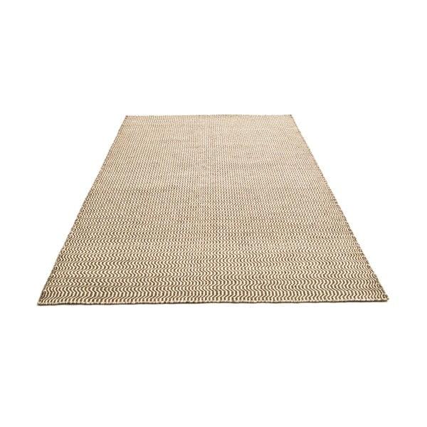Ručně tkaný koberec Beige Waves Kilim, 152x223 cm