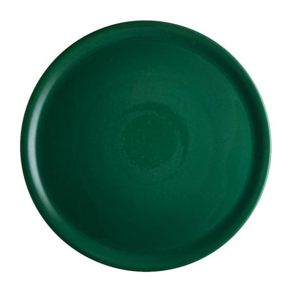 Zielony talerz porcelanowy na pizzę Brandani Pizza, ⌀ 31 cm