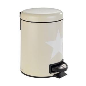 Béžový koupelnový odpadkový koš z oceli Wenko Stella,3l