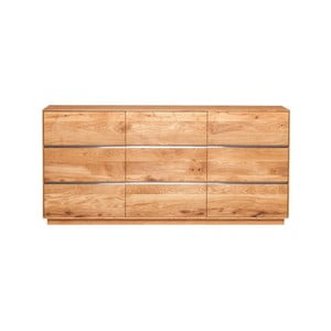 Trojdveřová skříňka z dubového dřeva Fornestas Hamilton