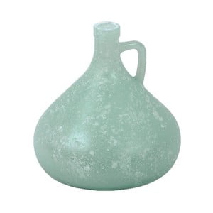 Tyrkysová váza z recyklovaného skla Ego Dekor Cantaro, výška 17,5 cm