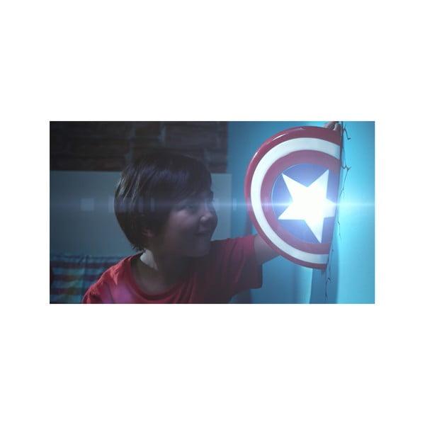 Dětské 3D světlo na zeď Štít Captain America
