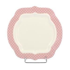 Porcelánový dezertní talíř Retro Pink, 21 cm