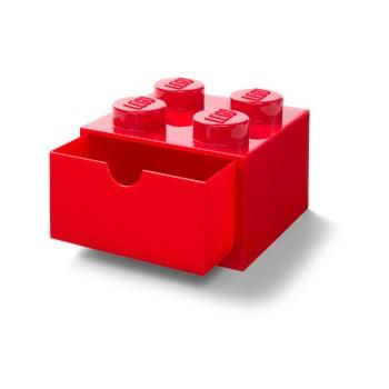 Cutie cu sertar pentru birou LEGO®, 15 x 16 cm, roșu imagine