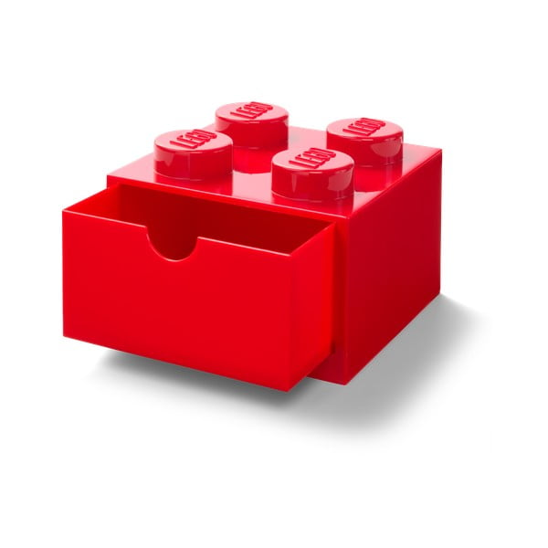 Cutie cu sertar pentru birou LEGO®, 15 x 16 cm, roșu