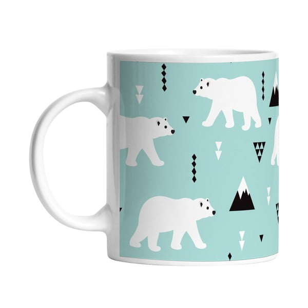 Keramický hrnek Polar Bears, 330 ml