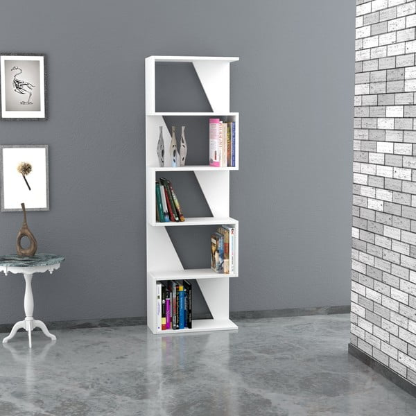 Knihovna Frame 168x54 cm, bílá