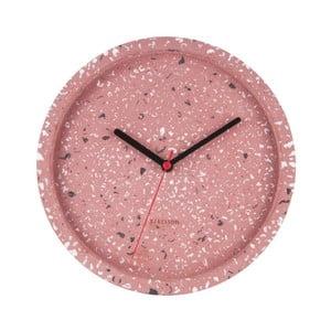 Růžové nástěnné hodiny Karlsson Tom, ⌀26 cm