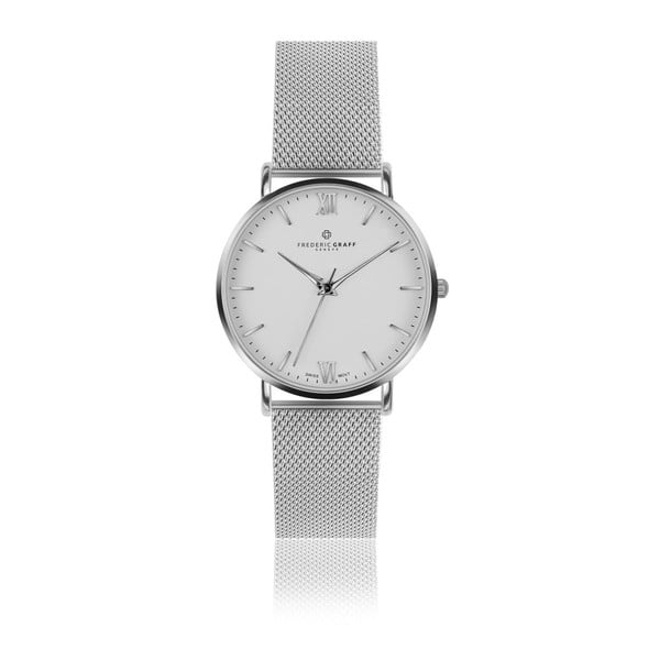 Unisex hodinky s remienkom z antikoro ocele v striebornej farbe Frederic Graff Silver Dent