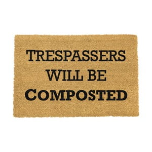 Rohožka Artsy Doormats Trespassers Will Be Composted, 40 x 60 cm