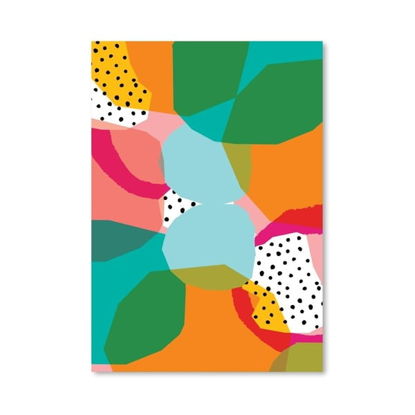 Plakát Geometric Shapes, 30x42 cm