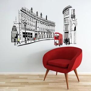 Samolepka na stěnu London Street, 60x90 cm