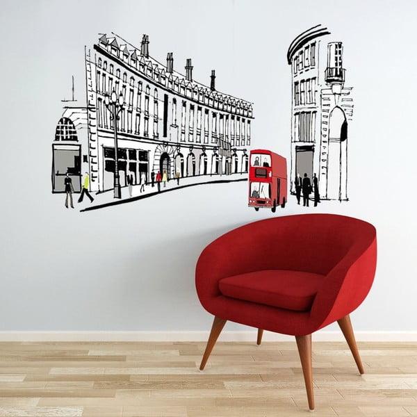 Samolepka na zeď London Street, 90x60 cm
