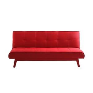 Červená rozkládací pohovka pro dva Modes