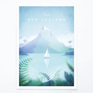 Plakát Travelposter New Zealand, A3