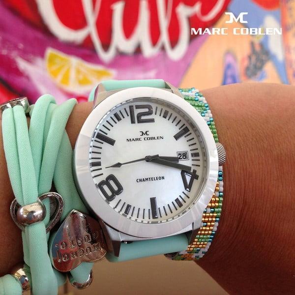 Unisex hodinky Marc Coblen s páskem a kroužkem navíc P15