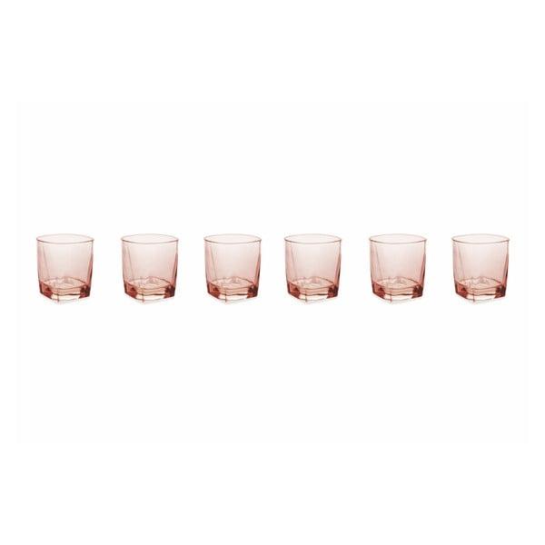 Sada 6 hranatých pohárov v zlatej farbe Villa d'Este Fresh