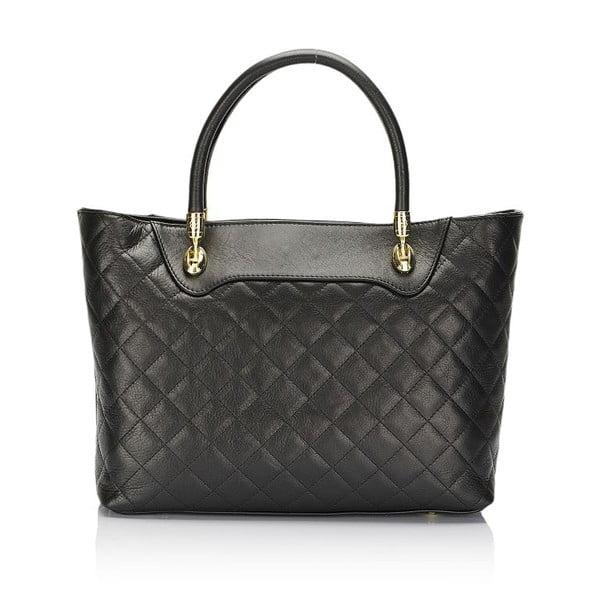 Černá kožená kabelka Giulia Massari Elvira