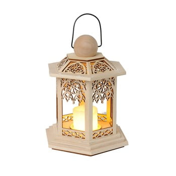 Felinar cu LED Best Season Lace, înălțime 20 cm, maro
