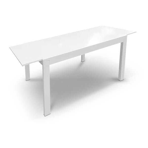 Rozkládací jídelní stůl Ghost, 120-164 cm, bílý