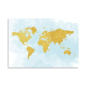 Poster Americanflat  World in Gold, 30 x 42 cm