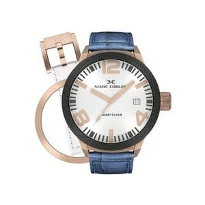 Pánské hodinky Marc Coblen s páskem a kroužkem navíc P37