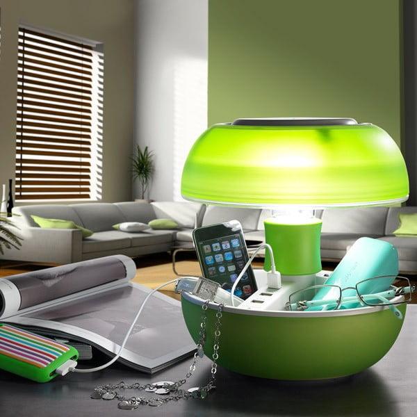Stolní lampa a nabíječka v jednom Joyo Light, zelená