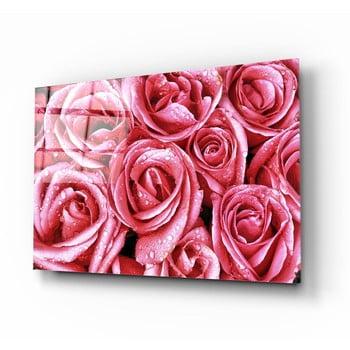 Tablou din sticlă Insigne Pink Roses poza