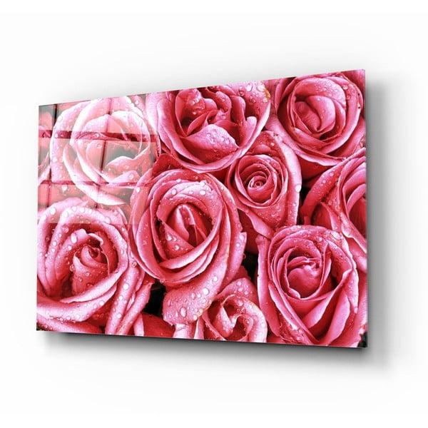 Pink Roses üvegezett kép - Insigne