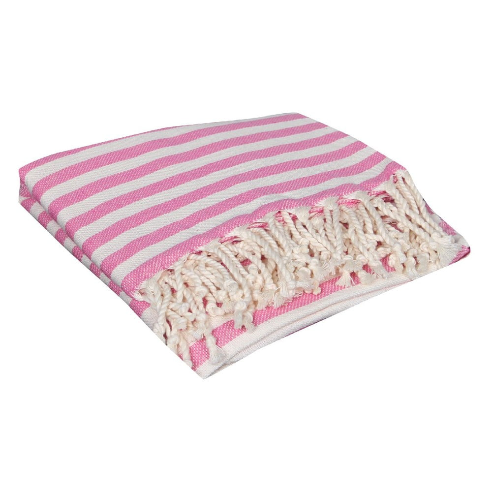 Růžová hammam osuška Akasya Pink, 90x190cm