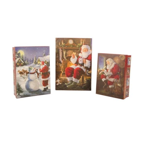Sada 3 úložných krabic Santa
