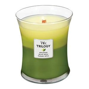 Lumânare parfumată  WoodWick Trillogia Sărbătoarea merelor 275 g, 60 ore
